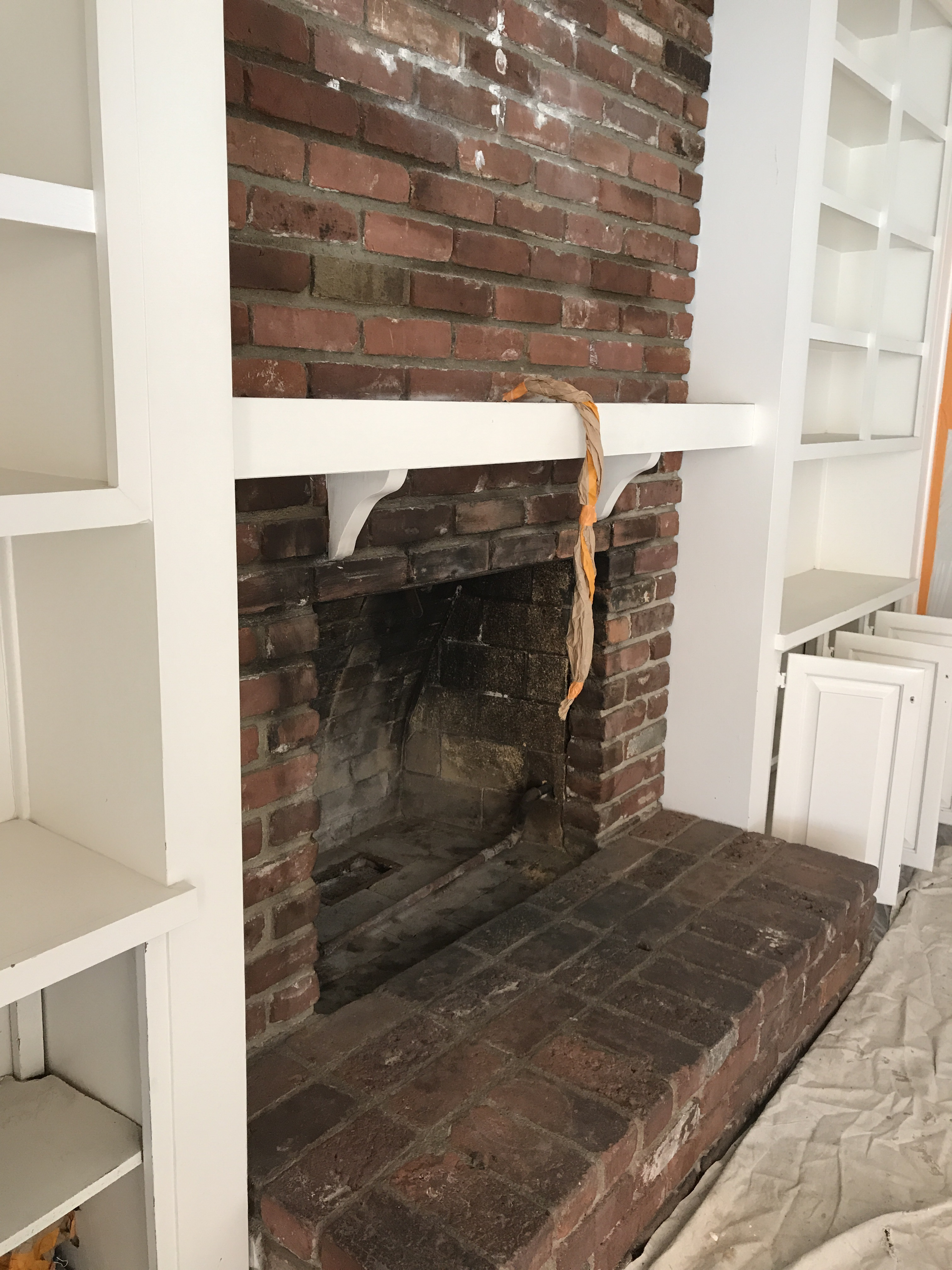 cleaning brick fireplace cleaning brick how to paint a brick