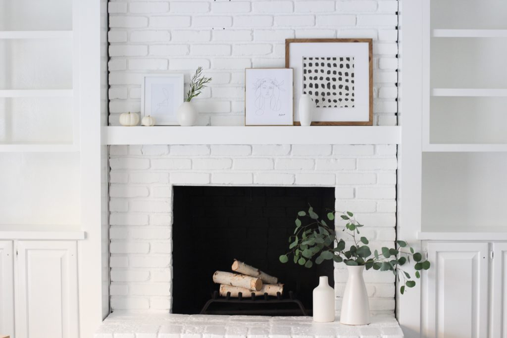 A Modern Fireplace Makeover Halfway Wholeistic