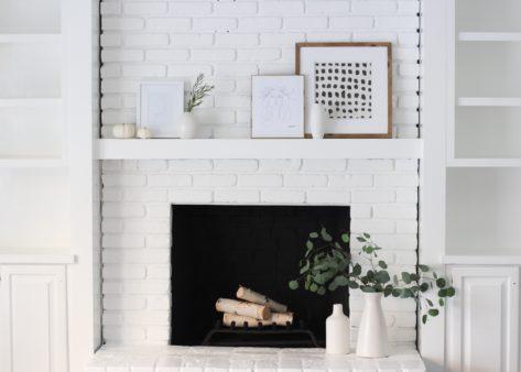 A Modern Fireplace Makeover