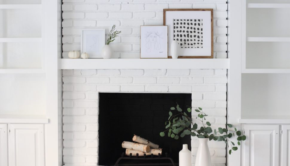 A Modern Fireplace Makeover