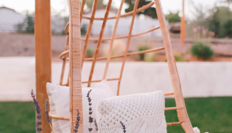 Summer Patio Decor + Our New Hanging Chair