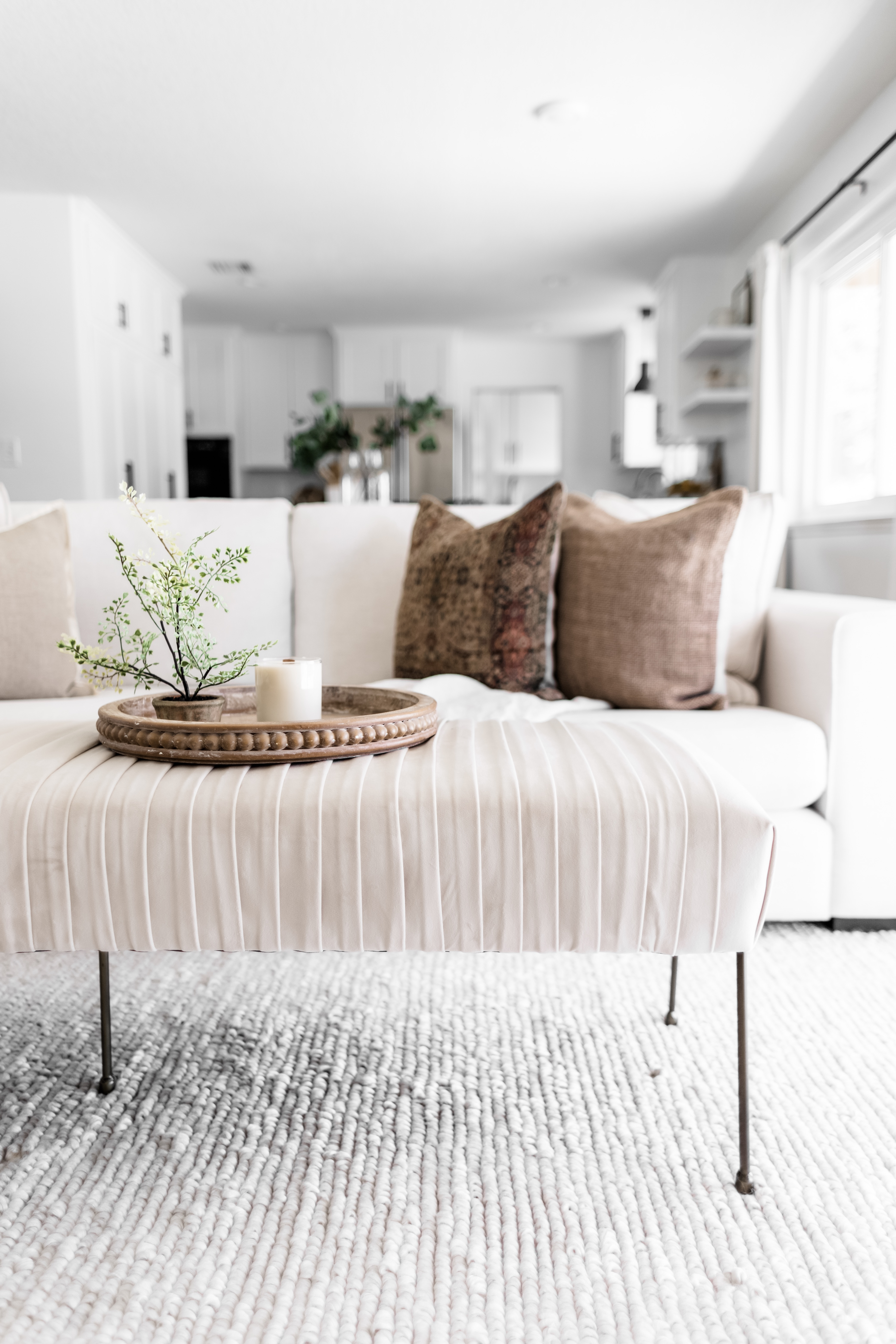 Picture of: Four Reasons To Consider An Upholstered Bench Over A Coffee Table Halfway Wholeistic