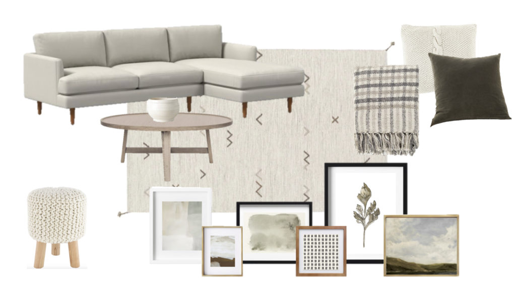 My Sister S Living Room Design Board Tips For Designing Your Own Space Halfway Wholeistic